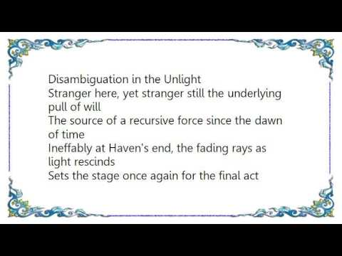 Epoch of Unlight - The End of All Lyrics