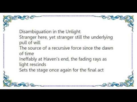 Epoch of Unlight - The End of All Lyrics