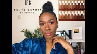 NEW Fenty Pro Filt'r Instant Retouch Concealers & Setting Powder 430,490 & Nutmeg Review | Nia Imani