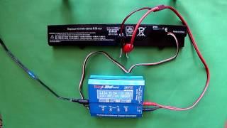 Батарея для ноутбука HP 625 з Китаю Розпакування і тест реальної ємності на Imax B6 mini