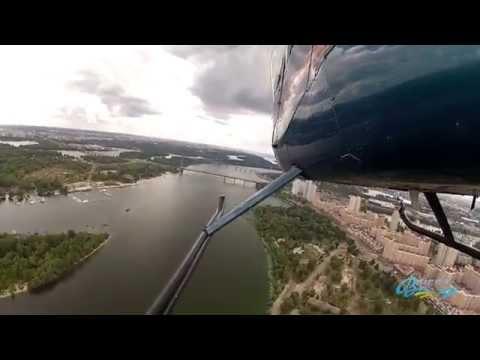 Полет на вертолете Robinson R44 над Киевом