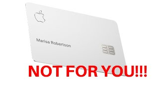 Apple Card: What Apple isn't telling You!!!
