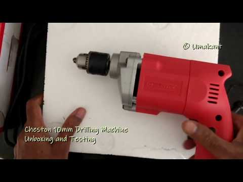 Cheston 10mm Drilling Machine (Rs 800/-) Unboxing and Testing