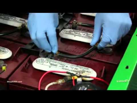 E Z Go 4 Gauge Battery Wire Package Installation Youtube