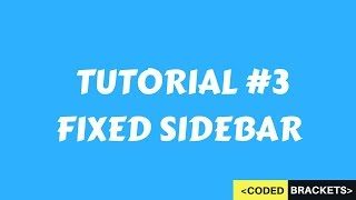 STICKY SIDEBAR USING HTML AND CSS WITH FLEXBOX