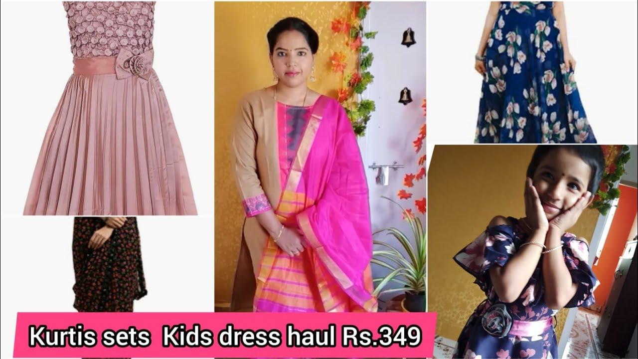 Rs.349 onwards Kids Frocks Kurtis Saree Haul | Amazon Prime Day Sale Amazon Kurtis 30% To 70% Offer