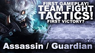 FIRST GAME OF TFT! FIRST VICTORY? Assassin / Guardian Strat! | TeamFight Tactics