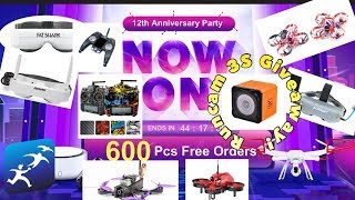 Banggood 12th Anniversary Party Deals. LOTS of Goggle deals and Runcam 3S Giveaway