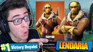 I BOUGHT THE LEGENDARY SKIN OF THE RAPTOR AND KILLED GENERAL! Fortnite: Battle Royale