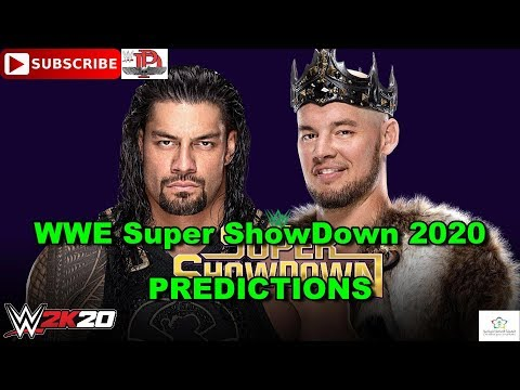 WWE Super ShowDown 2020 Roman Reigns Vs  King Corbin Steel Cage Match Predictions WWE 2K20