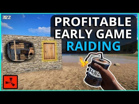 DAY ONE RAIDING Is ALWAYS So PROFITABLE!! Rust Solo Survival Gameplay Ep1 (New Series)