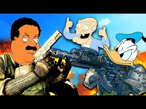 FAMOUS PEOPLE PLAY CALL OF DUTY! #4 (Cleveland Brown, Donald Duck & More) - FAMOUS PEOPLE PLAY CALL OF DUTY! #4 (Cleveland Brown, Donald Duck & More)