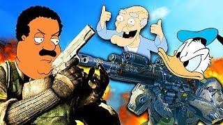 FAMOUS PEOPLE PLAY CALL OF DUTY! #4 (Cleveland Brown, Donald Duck & More)