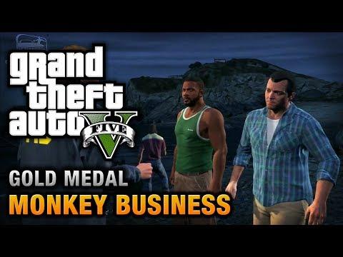 GTA 5 - Mission #54 - Monkey Business [100% Gold Medal Walkthrough]