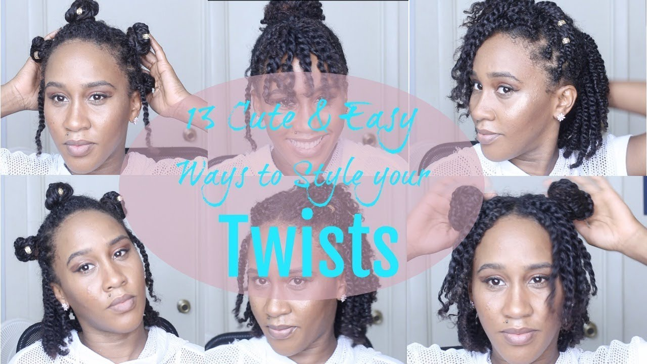 13 Super Cute Easy Ways To Style Your Natural Twists Youtube