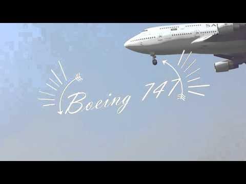B747 Saudi Arabia Landing Juanda Airport