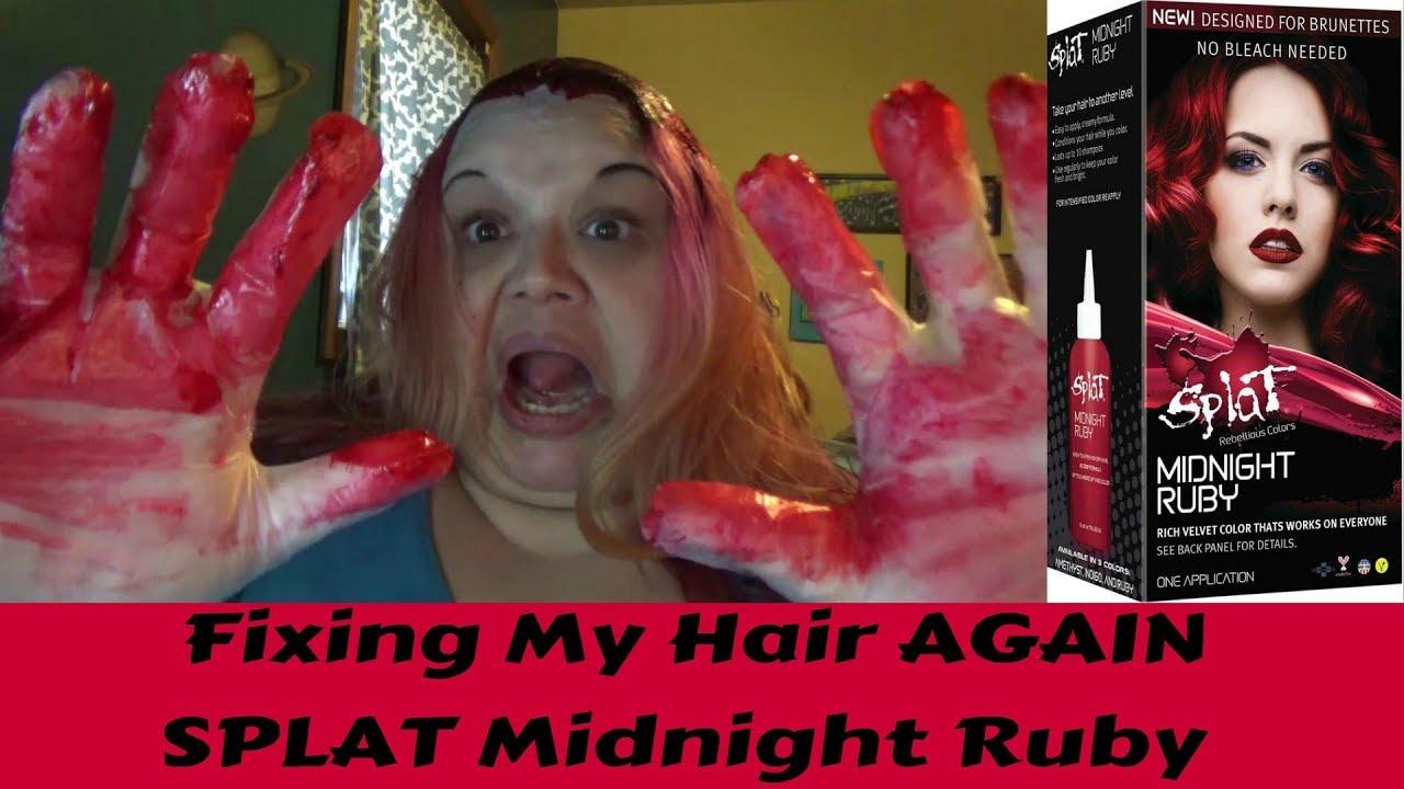 Fixing My Hair Again Splat Midnight Ruby Youtube