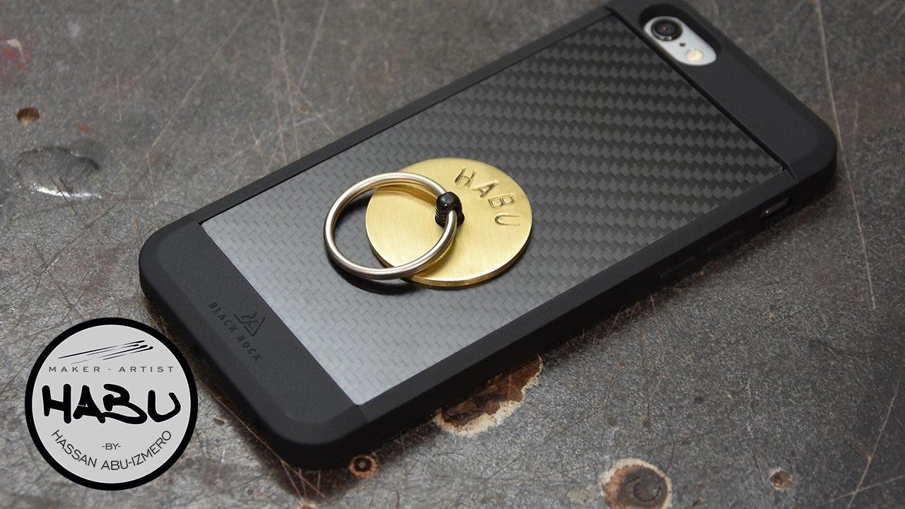 DIY \\ Mobile phone ring holder - YouTube