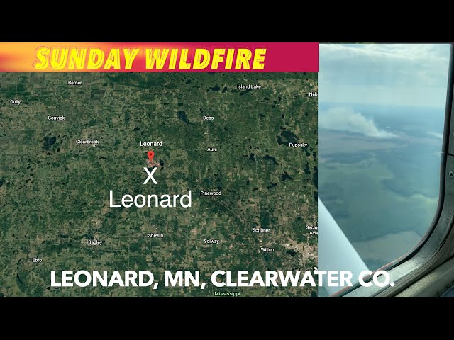 Sunday Afternoon Wildfire In Clearwater County, MN