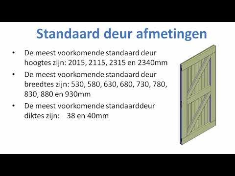Vaak Standaard deur afmetingen - Fred's Bouwtekeningen JD17