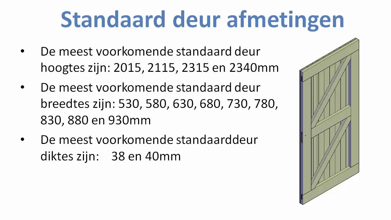 Super Standaard deur afmetingen: Bouwkundige tips en benamingen - YouTube JV15