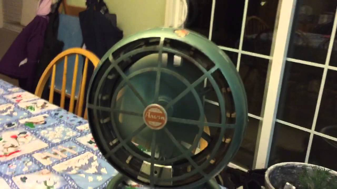 Antique Arvin Heater Fan With New Wiring Youtube