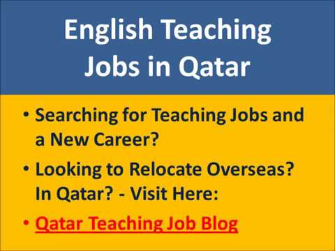 Qatar English Teaching Jobs