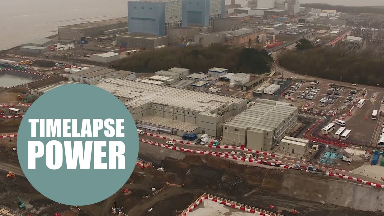 This dramatic drone footage shows Europe's biggest building site, Hinkley Point C