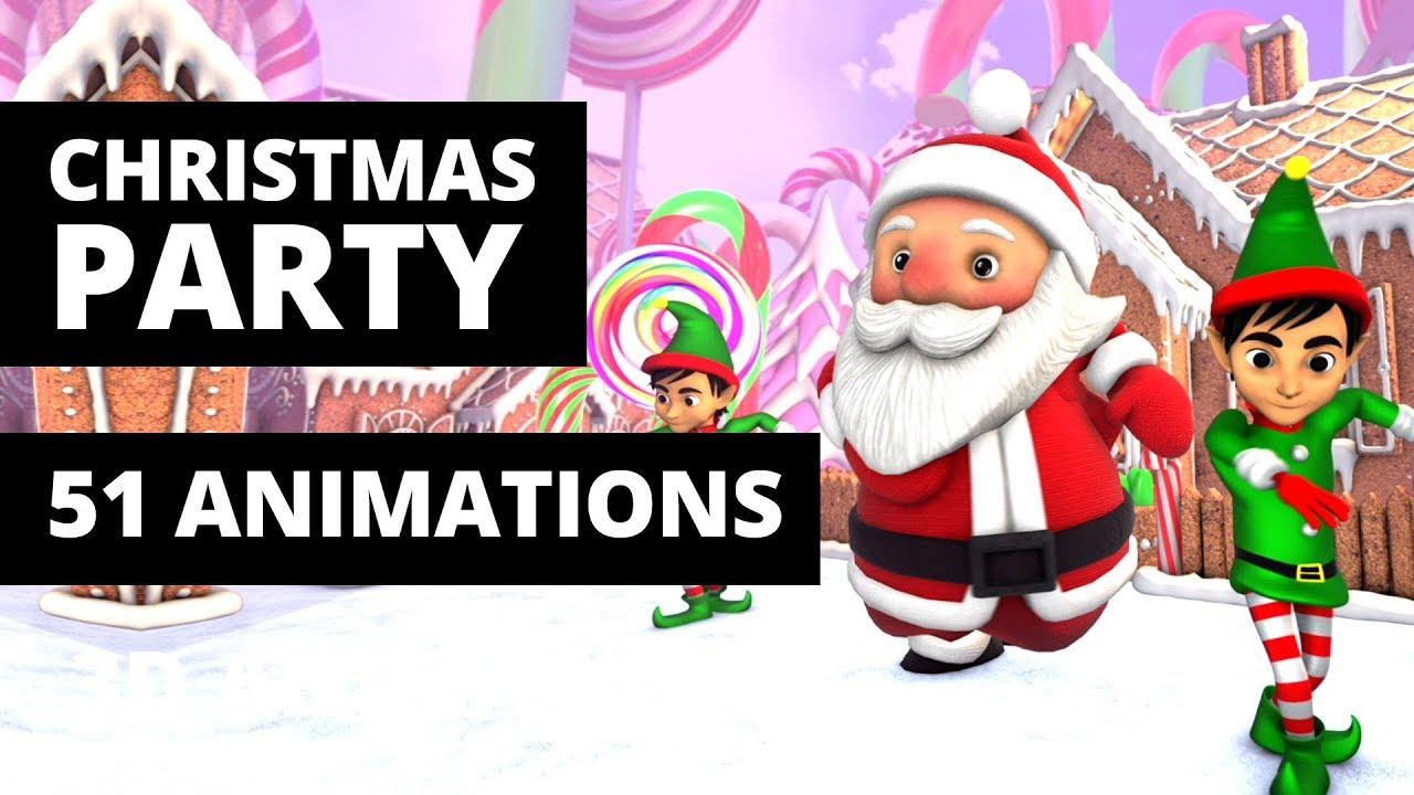 Christmas Party Vj Loops 3d Cartoon Animation Video Bundle Youtube