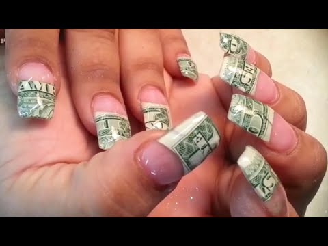 Acrylic Full Set Money Nails Art Youtube