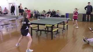 Анна СЕРГЕЕВА - Мария БОГОСЛОВСКАЯ (Полная версия) Настольный теннис, Table Tennis