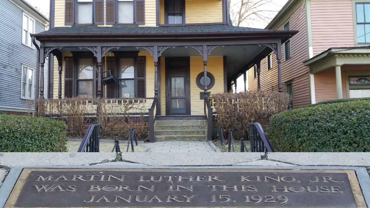 Martin Luther King Jr Birth Home And Final Resting Place Youtube