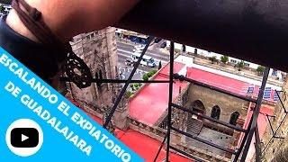 Escalada urbana sin cuerdas   Torre del Expiatorio (Guadalajara)