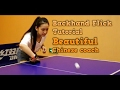 How to do a Backhand Flick in Table Tennis