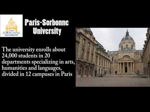 A Description Of Paris Sorbonne University