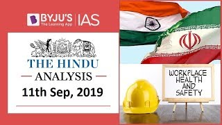 'The Hindu' Analysis for 11th September, 2019 (Current Affairs for UPSC/IAS)