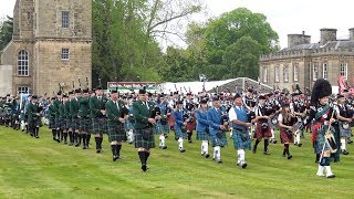 Scotland The Brave By The Massed Pipes Drums During Gordon Castle Highland Games 2019