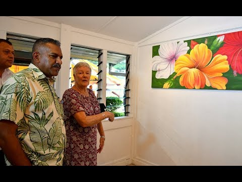 Fijian Minister Hon. Faiyaz Koya officially launched 'Blooming Inside' Art Exhibition.