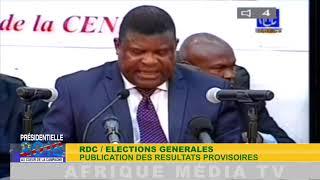 PROCLAMATION ELECTION PRESIDENTIELLE RDC