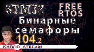 Программирование МК STM32. Урок 104. FreeRTOS. Бинарные (двоичные) семафоры. Часть 2