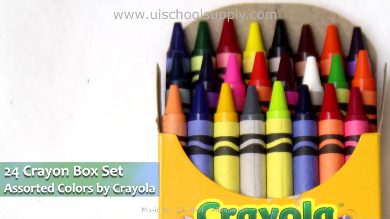 24 assorted color crayons by crayola 52 0024 0 207 youtube