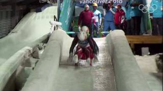 Men's Luge Doubles Highlights - Vancouver 2010 Winter Olympic Games