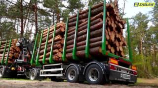 Scania zestaw do transportu drewna podczas pracy w lesie