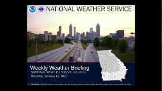 Nws atlanta weekly weather briefing january 16, 2020