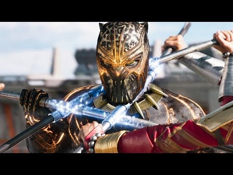 Black Panther Vs Killmonger   Final Battle   Fight Scene   Black Panther 2018 Movie CLIP HD
