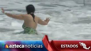 Video: mar de fondo se traga playas en Acapulco