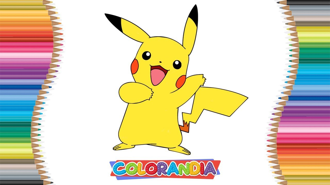 Pikachu Desenhar E Colorir Pokemon Jogos De Pintar Desenhos