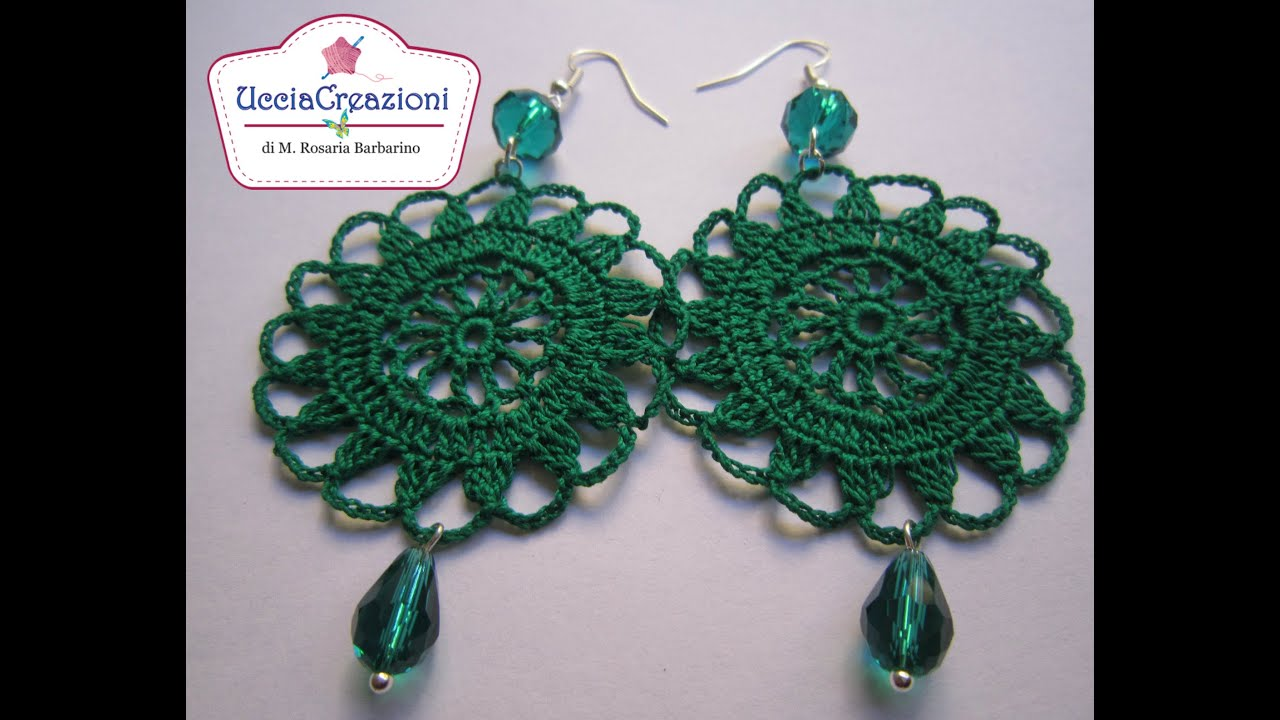 Tutorial 2 Orecchini Tondi All Uncinetto How To Do Earrings
