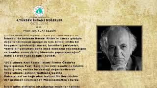Prof.  Dr.  Fuat SEZGİN Biyografi