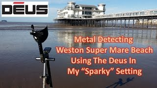 Metal Detecting Weston Super Mare Beach With The Xp Deus Coins and More Coins